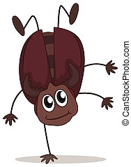 A jumping beetle - Illustration of a jumping beetle on a...