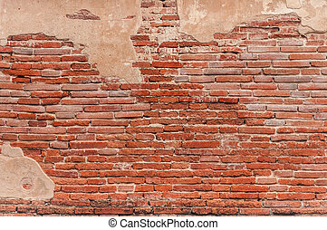 old brick wall - red brick wall