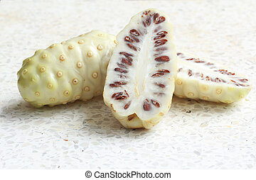 Noni fruits or Indian Mulberry