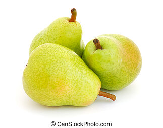 Pears - Three pears isolated on white background