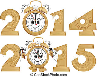 new year`s clock - new year's clock with a dial smiling