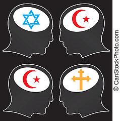 brains of religious fanatics