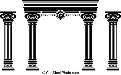fantasy arch and columns. stencil. sixth variant