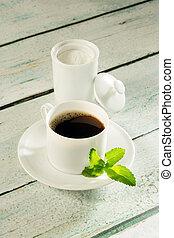 olla, stevia, edulcorante, café