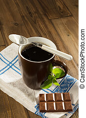 Stevia diet chocolate - Diet chocolate and coffee with...