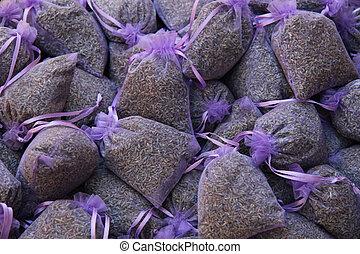 Lavender scented bags - lavender scented bags at a market in...