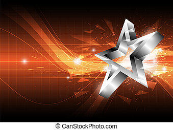 star abstract background design