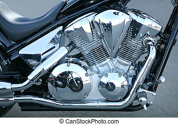 motorcycle engine - engine of the modern powerful motorcycle...