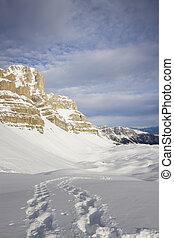 Dolomites in winter, Madonna di Campiglio