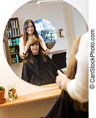 Beauty salon situation - Young woman in the Beauty salon