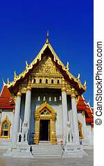 The marble temple is a Buddhist temple wat in the Bangkok,...