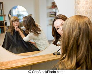 Women in beauty salon