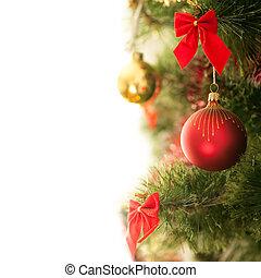 Christmas ball on the tree