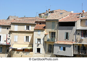 Streetview of Vaison la Romaine - Several houses near the...