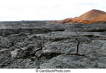 Lava Fields - The barren lava fields of the Galapagos...