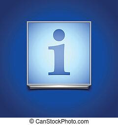information sign - detailed illustration of a blue...