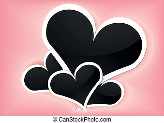 valentine foto frames - detailed illustration of valentine...