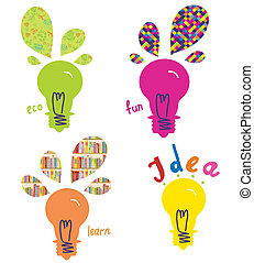 Light bulbs ideas and concepts funny design