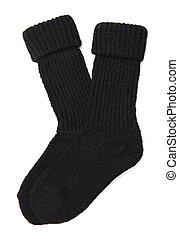 Socks - Woolen socks isolated on the white background
