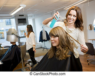Beauty salon situation - Group of people in a Beauty salon