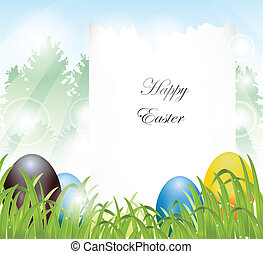 easter eggs with blank sign