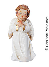 Cute angel isolated on the white background