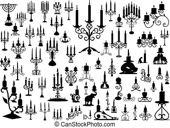 Candlesticks - Vector collection of isolated candlesticks