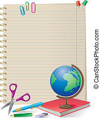 NOTEPAD WITH SCHOOL SUPPLIES