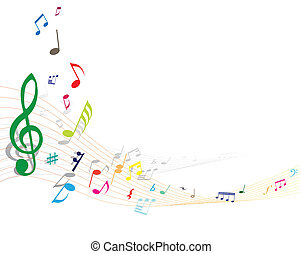 note background - Abstract vector musical note background...