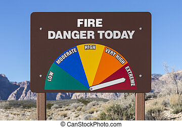 Extreme Fire Danger Today Sign - Extreme fire danger today...