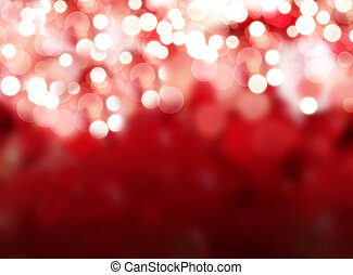 red lights - abstract red lights stars bokeh background...