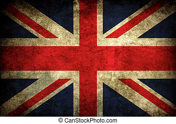 vintage uk flag - old vintage british uk national flag...