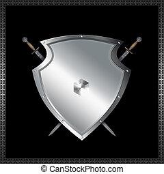 escudo, espadas