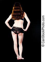 graceful woman wearing lingerie - Graceful woman wearing...