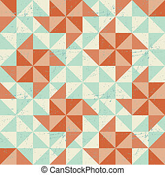 Seamless geometric pattern with origami elements