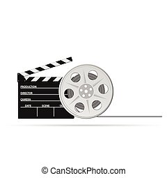film tape old vector illustration part two