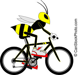 Wasp cyclist - Creative design of wasp cyclist