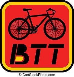 BTT icon - Creative design of BTT icon