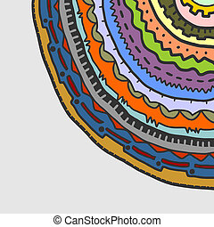 Colorful circle corner - Creative design of colorful circle...