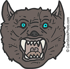 Face wolf - Creative design of face wolf