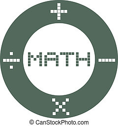 Circle math - Creative design of circle math