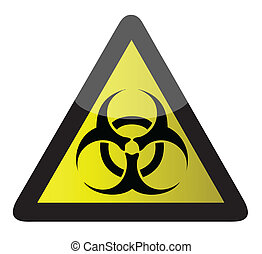 biohazard sign illustration design over a white background