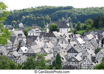 small German town of Freudenberg - small town of Freudenberg...