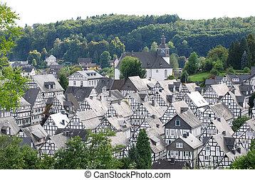 Mały, Niemiec, miasto, Freudenberg