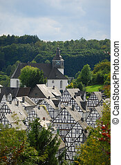 Freudenberg in Germany - German timbered houses