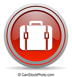 financial red glossy icon on white background