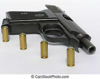 Pistol and bullets