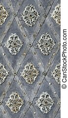 seamless texture nailed metal floral decoration - seamless...