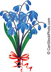 Bouquet blue snowdrops