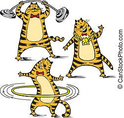 Cartoon illustration of cat